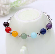 New 7 Chakra Gemstone Beads Bracelet Yoga Reiki Healing Balance Fashion Jewelry