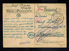 1945 Germany Postcard Feldpost Cover Buchenwald Concentration Camp to Wehrmacht