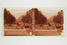 Paris Rue Royal Place de la Concorde France Plaque verre stereo ca 1930