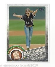 2015 TOPPS SERIES 1 McKAYLA MARONEY FIRST PITCH #FP-03 WHITE SOX