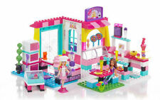 BNIB Mega Bloks Barbie Build 'N Play Bakery Shop PLAYSET