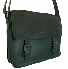 65% OFF ROWALLAN MEDIUM GREEN LEATHER SATCHEL SHOULDER BAG