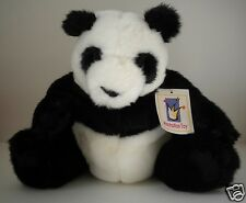 """Panda Sitting Plush by Manhattan Toy Rarities Collection Claws Realistic 10"""" NWT"""