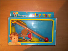 70'S VINTAGE WOODEN GREEK BABY PLAY GYM TOY BABYPAP MIB