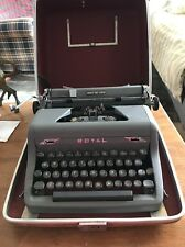 Old Vintage Royal Quiet DeLuxe Typewriter with Touch-Control  * Works Good