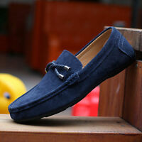 British New Men's Casual Suede Lace Slip On Loafer Flat  Moccasins Driving Shoes