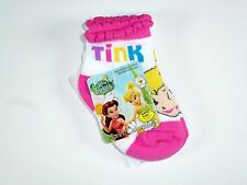 NEW 2 PAIRS GIRLS DISNEY FAIRIES TINKERBELLE NON SKID SOCKS SIZE 18-24M NS83