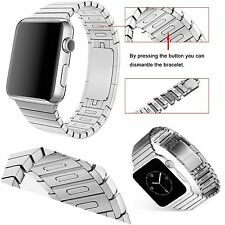 Silver Link 1:1 Bracelet Strap Band For Apple Watch Series 2 StainlessSteel 42mm