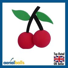 REDUCED... Cherry Red Cherries Car Aerial Ball Antenna Topper