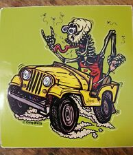 "Rat Fink Sticker 5"" Ed ""Big Daddy"" Roth Style Jeep Creep Vinyl Die Cut Sticker"