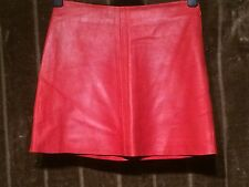 Size 12 Esprit Red Soft Leather Mini Skirt