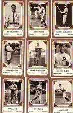 22/28 1975 Fleer Pioneers of Baseball Card Set NRMT