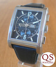 Oris Rectangular Titan automatic chronograph mens titanium watch 7625