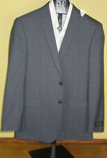 $650 New Jos A Bank JOSEPH grey plaid pattern suit 43 R 37 W Slim fit