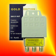 GOLD EDITION DiSEqC Schalter Switch 2/1 Wetterschutz !!