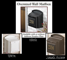 Whitehall Wall Mailbox Oversized Capacity Locking & in 3 Colors - Ships Quick!