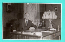 LATVIA LETTLAND MAN table lamp AND TELEPHONE VINTAGE PHOTO CARD 598