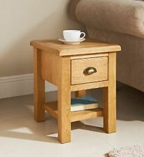 WILTSHIRE ASSEMBLED SOLID OAK WOOD SIDE TABLE LAMP PAPER TEA COFFEE PAPER DRAWER
