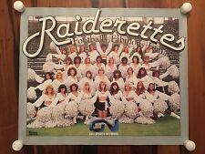 VINTAGE 1980's OAKLAND RAIDERS RAIDERETTES CHEERLEADERS NFL FOOTBALL POSTER e1