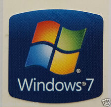 2 x WINDOWS 7 STICKER LOGO 18x18mm for Laptops & Desktops PC