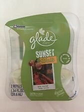 2 Glade Oil Plugins Refills SUNSET WALK Fall Autumn HIKE THROUGH LEAFY TRAILS