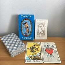 Rider Tarot Cards Pamela Coleman Smith Complete AG Muller AE Waite Blue Box