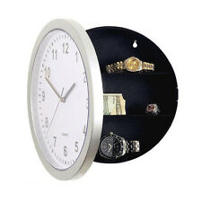 New Hidden Secret Wall Clock Safe Container Box for Money Stash Jewelry Storage