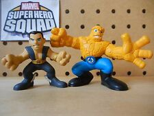 Marvel Super Hero Squad RARE COMPLETE Wave 3: THING & NAMOR Sub-Mariner