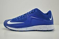 Mens Nike Lunar MVP Pregame 2 Turf Shoes Size 14 Blue White 684690 410 Baseball