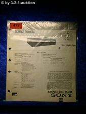 Sony Service Manual CDP C10 CD Player (#0477)