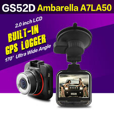 Mini GS52D Ambarella A7LA50 GPS Del Coche Dashcam Cámara DVR Super HD 1296P