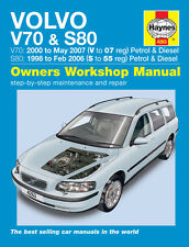 Haynes Manual Volvo V70 S80 Series 1998-2007 NEW (4263)