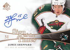 11/12 SP AUTHENTIC SIGN OF THE TIMES AUTOGRAPH AUTO JAMES SHEPPARD WILD *18552