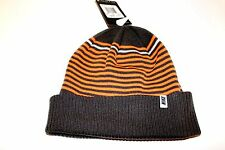 NWT NIKE MEN'S RUNNING WALKING STRIPED KNIT BEANIE CAP ORANGE GREY ONE SIZE $25