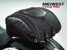 Deluxe Solo Rack Bag for Harley-Davidson, Victory, BMW, Star  (H50-107BK)