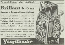 Y3132 Voigtlander - Brillant 6 x 6 - Pubblicità del 1939 - Old advertising