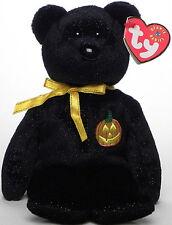 TY Beanie Baby Babies HAUNT 2000 Halloween TEDDY BEAR Bean Bag Toy MWMT Retired