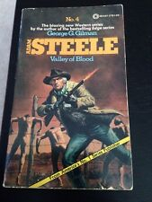 #4 Adam Steele Valley Of Blood Western Novel George Gilman 1975