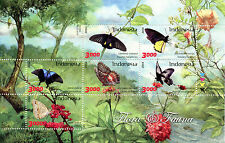 Indonesia 2016 MNH Flora & Fauna Butterflies 6v M/S Insects Flowers Trees Stamps