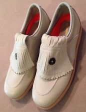Men's Etonic Difference Leather Golf Shoes USA Size 8M Cream NWOB!