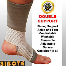 SIBOTE adustable ankle and foot support brace - compression injury strap band
