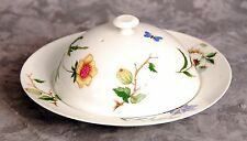 "Vintage A. Raynaud et Cie Ceralene Limoges China ""Mon Jardin"" Muffin Dish w/ Lid"