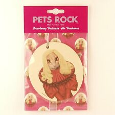 "Pets Rock ""Poker Face"" Air Freshener Strawberry Fruitcake Lady Gaga Look-alike!"