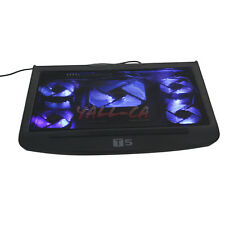 """17"""" 5 Fan Laptop Notebook PC USB LED Light Cooling Stand Pad Cooler Powerful CA"""