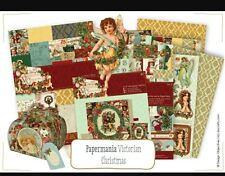 PAPERMANIA VICTORIAN CHRISTMAS A5 PAPER PACK 42 SHEETS