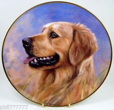 Golden Retrievers ~ Noble Profile ~ Fine Porcelain Danbury Mint Plate
