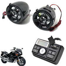 Motorcycle Handlebar Audio System USB SD FM Radio Stereo Speaker MP3 with Remote