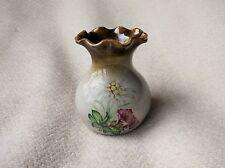 Objet de collection poterie gres d'alsace small posy vase anne ehret glaze volants floral