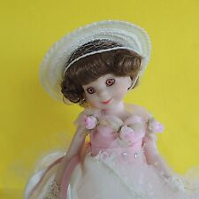 Betsy McCall 1998 Postage Stamp Doll, Pink & White Gown Hang Tag