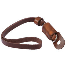 New Brown Leather Camera Hand Wrist Strap for Canon Nikon Olympus Sony ILDC DSLR